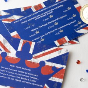 Celebrate Britain Scratch Card Trivia (10)