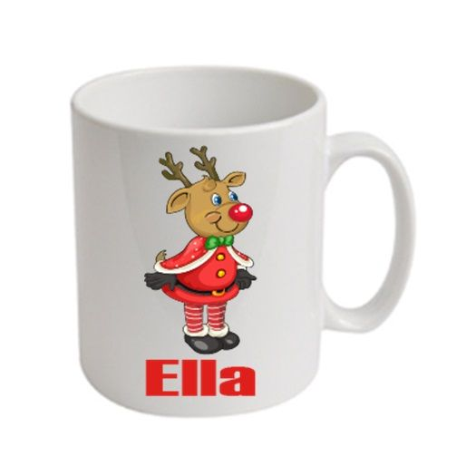 Reindeer Christmas Personalised Mug