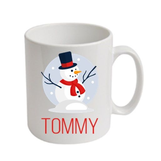 Snowman Christmas Personalised Mug